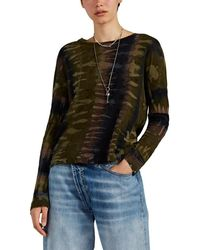 Raquel Allegra Tie-dyed-camouflage Cotton Long-sleeve T-shirt