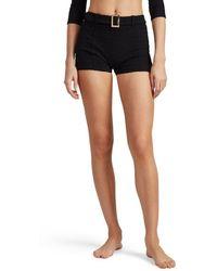 Lisa Marie Fernandez - Seersucker Belted Swim Shorts - Lyst