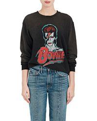 MadeWorn - bowie Distressed Cotton-blend Sweatshirt - Lyst