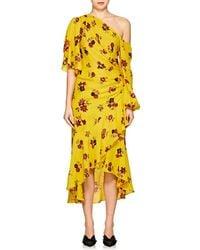 A.L.C. - Florence Floral Silk Dress - Lyst