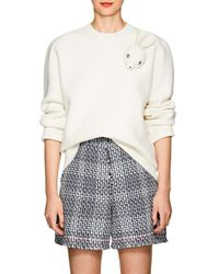 JW Anderson - Bunny-brooch Wool-blend Sweater - Lyst