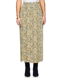 Tomorrowland - Floral Pleated Georgette Skirt - Lyst