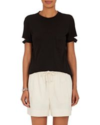 Helmut Lang | Slashed-sleeve Cotton Jersey T | Lyst