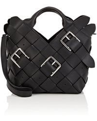 Loewe - Small Woven Leather Basket Bag - Lyst