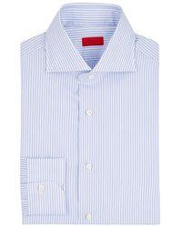 Isaia - Striped Cotton Poplin Shirt - Lyst