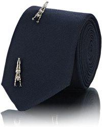 Title Of Work - Embellished Textured Silk Necktie - Lyst
