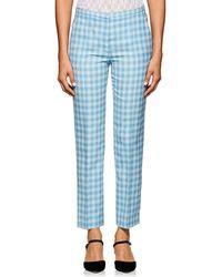 Nina Ricci - Checked Wool-blend Trousers - Lyst
