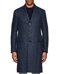 Ralph Lauren Purple Label - Ridley Linen Overcoat - Lyst