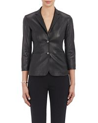 The Row - Leather Nolbon Jacket - Lyst