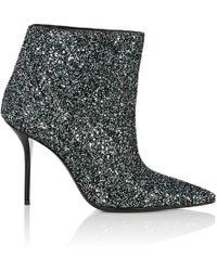 Saint Laurent - Glittered Ankle Boots - Lyst