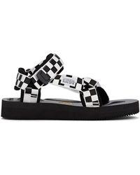 5d78b7cb2 Suicoke - Checkerboard Nylon Slingback Sandals - Lyst