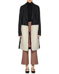 Cedric Charlier - Shearling-inset Wool - Lyst