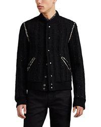 Saint Laurent - Sequin-embellished Wool-blend Tweed Teddy Jacket - Lyst
