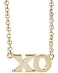 Jennifer Meyer - Gold ''XO'' Pendant Necklace - Lyst