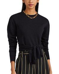 Cedric Charlier Tie-waist Wool Sweater