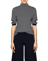 Nomia - Gingham Cotton-blend Mock Turtleneck Top - Lyst