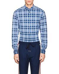 Tomorrowland - Plaid Cotton Knit Shirt - Lyst