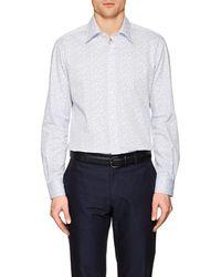 Luciano Barbera - Dotted Cotton Poplin Shirt - Lyst