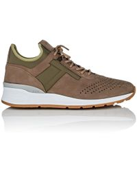 clearance get authentic sale from china Tod's Leather-Trimmed Nubuck and Neoprene Sneakers OPshpyh