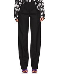 Narciso Rodriguez - Wool Straight Pleated Trousers - Lyst