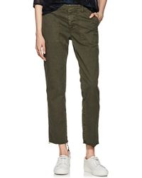 Nili Lotan - Jenna Cotton Twill Crop Pants - Lyst