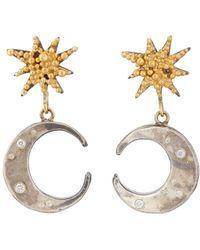 Judy Geib - Sun & Moon Double-drop Earrings - Lyst