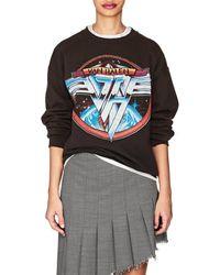 MadeWorn - van Halen Distressed Cotton-blend Sweatshirt - Lyst