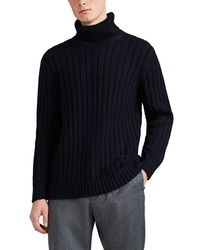 90b189fe4 Barneys New York - Cotton-alpaca Turtleneck Sweater - Lyst