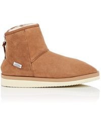 Suicoke - Sherpa-lined Suede Ankle Boots - Lyst