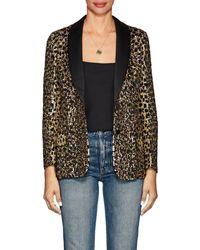 Valentino - Wild Leopard Embellished Blazer Size 4 - Lyst