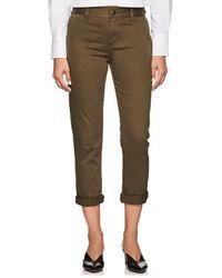Current/Elliott - Confident Cotton Mid-rise Trousers - Lyst