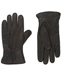 Barneys New York - Leather Gloves - Lyst