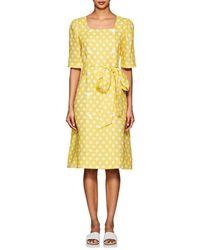 Lisa Marie Fernandez - Diana Polka Dot-print Linen Dress - Lyst