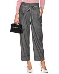 Giorgio Armani - Wool-blend Drawstring Trousers - Lyst