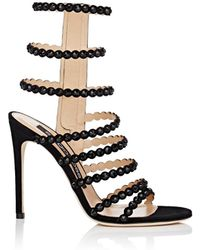 Sergio Rossi - Kim Embellished Strappy High Heel Sandals - Lyst
