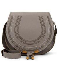 Chloé - Marcie Small Leather Crossbody Saddle Bag - Lyst