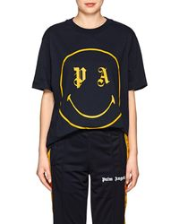 Palm Angels - Smiley-face Cotton T - Lyst