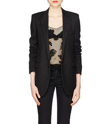 Saint Laurent - Striped Wool-blend One-button Blazer - Lyst