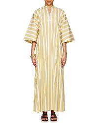 Thierry Colson - Rachel Striped Cotton Long Caftan - Lyst