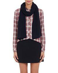 Barneys New York - Rib-knit Cashmere-silk Scarf - Lyst