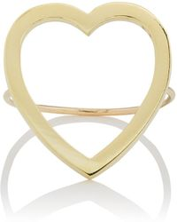 Jennifer Meyer - Large Open Heart Ring Size 6.5 - Lyst