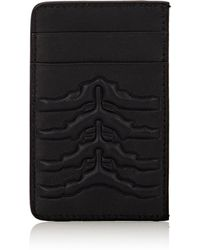 Alexander McQueen - Rib-cage Embossed Card Case - Lyst