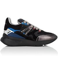 Alexander McQueen - Oversized Leather & Suede Sneakers - Lyst