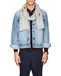 Paul Smith - Soho Embroidered Cotton Scarf - Lyst