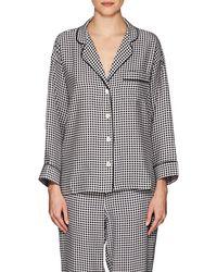 Sleepy Jones - Marina Gingham Silk Pajama Shirt - Lyst