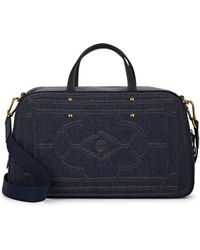 Fontana Milano 1915 - Sunday Leather-trimmed Denim Duffel Bag - Lyst