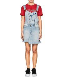 Ksubi - Cut + Slice Distressed Denim Dress - Lyst