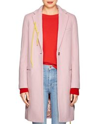 Mira Mikati - Flower-appliquéd Wool-blend Long Coat - Lyst