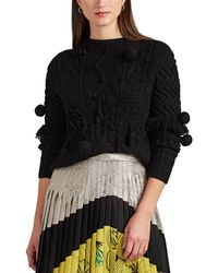 SPENCER VLADIMIR - Appliquéd Mixed-knit Cashmere Sweater - Lyst