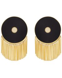 Monica Sordo - Lluvia Gold-plated Onyx Earrings - Lyst